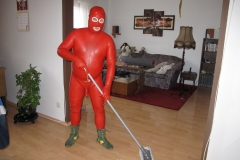 roter Anzug aus China