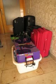 Vorbereitungen, unsere Koffer