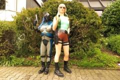 Alien und Lara Croft, ein starkes Team