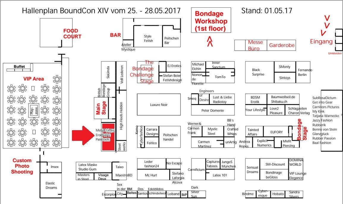 Boundcon Hallenplan
