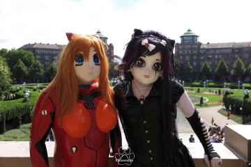 Yuki und Asuka am Wasserturm