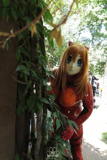 Asuka und Pflanzen
