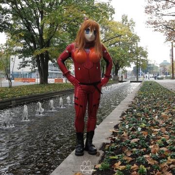 W-Asuka draußen in Karlsruhe