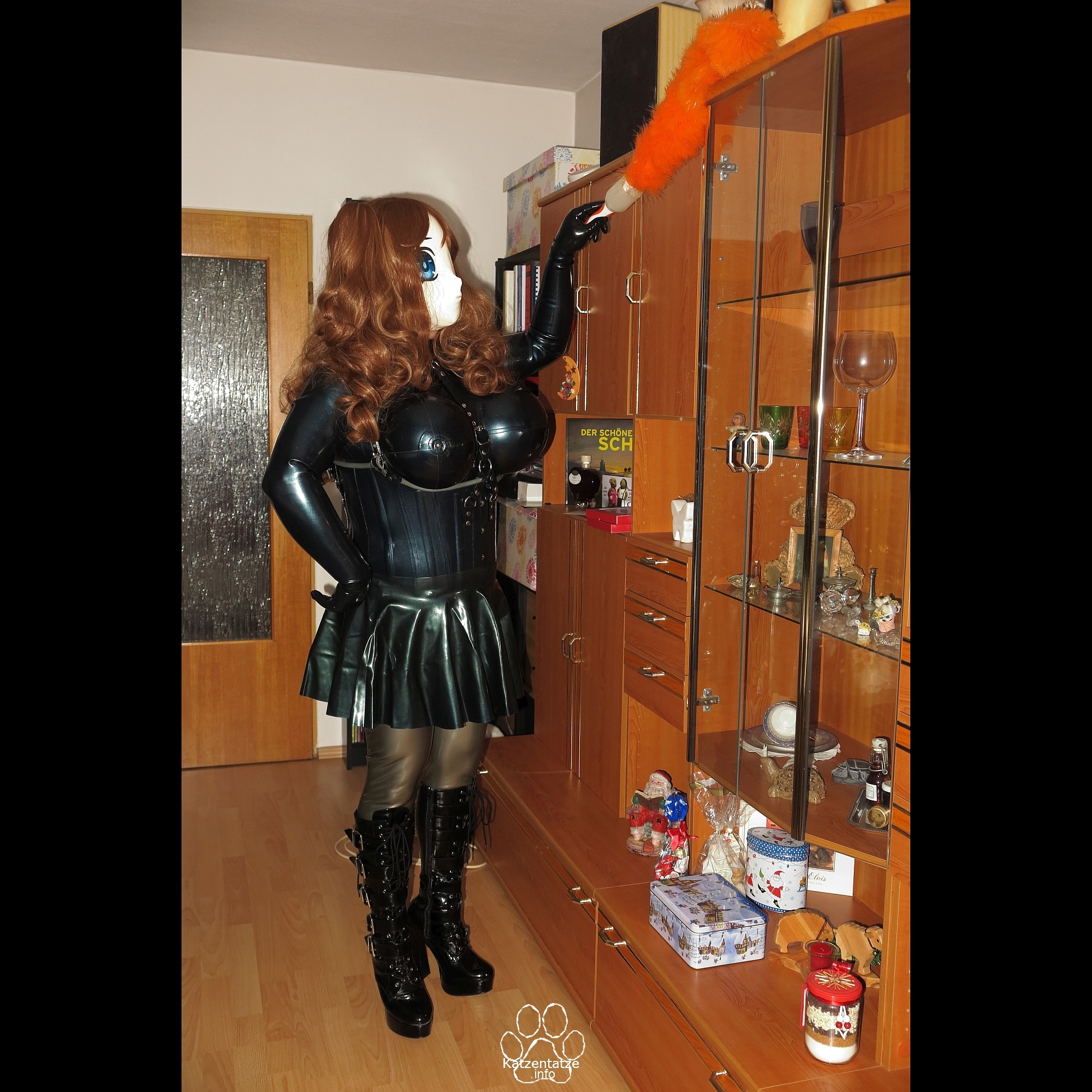 (W)Asuka as rubber maid