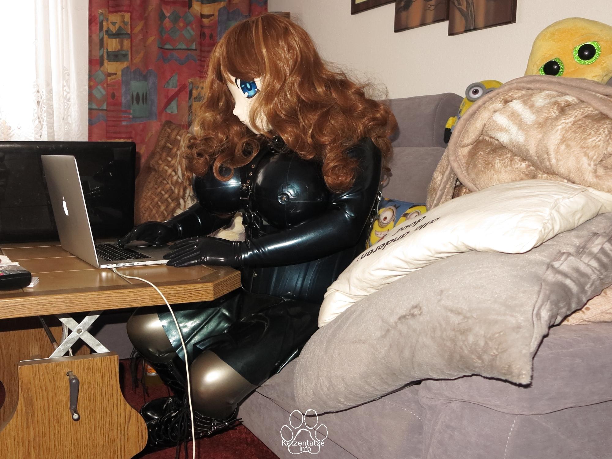 Asuka as hard working rubber maid