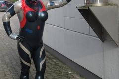 Rei Ayanami Rubbergirl in Kamen