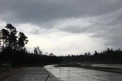 auf der Hinfahrt war es grauseliges Wetter