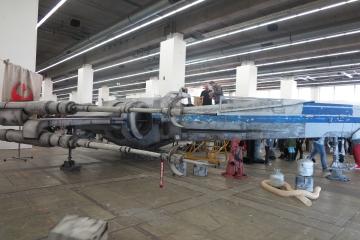 in den Messehallen, X-Wing von Starwars