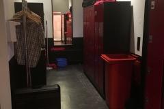 der Garderobenbereich