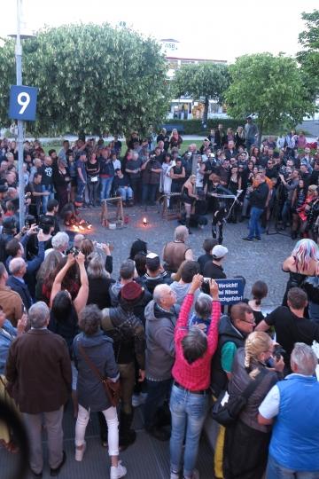 die Feuershow in Konstanz