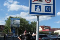 Daniel am Deutschlandschild