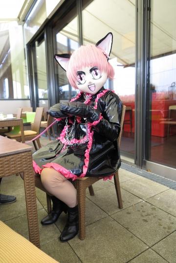 Ichigo-Maid auf der Terasse