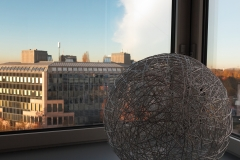 Blick aus  dem Hotelfluf auf die Wetterscheide