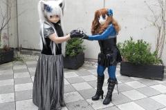 Yukico und Asuka Akira Kig mit Schwert