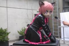 Ichigo-Maid im Hof