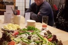 Salatplatte im Brauhaus