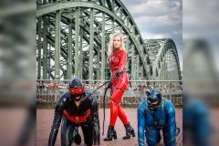 Robin, Casan und Katzentatze auf der Deutzer Brücke
