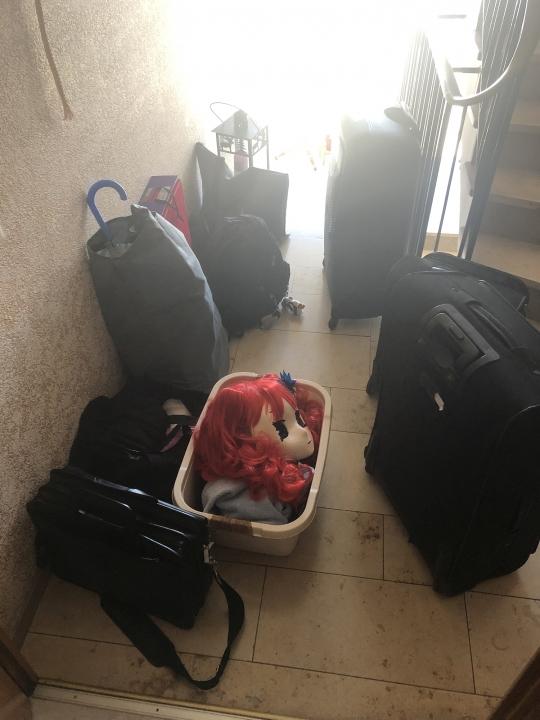 unser Gepäck wird auch immer mehr