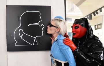 Karl Lagerfeld wird auch besucht
