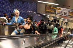 in der U-Bahn Marienplatz