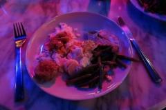 meine erstes Essen auf der Rubber Night