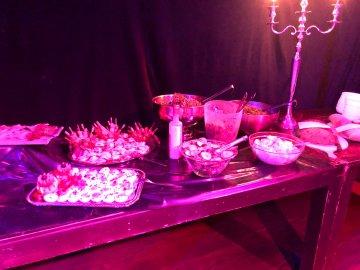 das Buffet auf der Preparty im Catonium