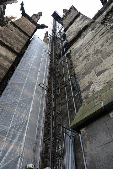 Aufzug auf die erste Ebene