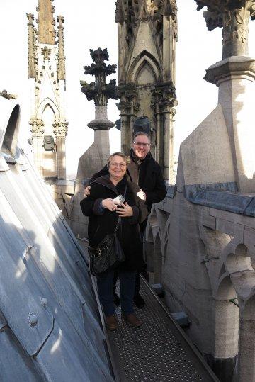 Petra und Dirk haben es auf's Dach gebracht