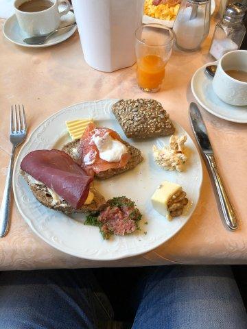Frühstück am Samstag im Hotel