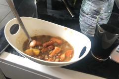 Linsensuppe mit Bockwurst