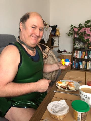 Frühstückmachen am Ostersonntag