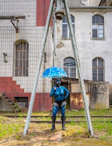 Katzentatze im Frankfurter Osthafen