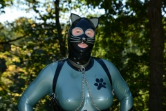 Electric Blue Catsuit Shooting Bergisch Gladbach