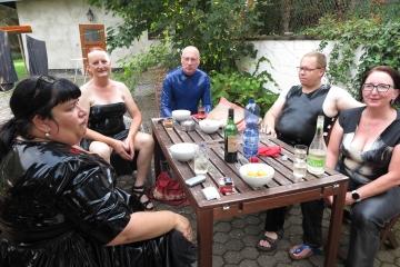 Treffen von Freunden