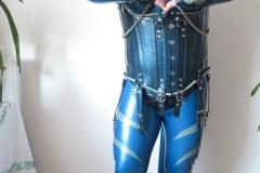 metallic blauer BBC und HW-Design-Korsett