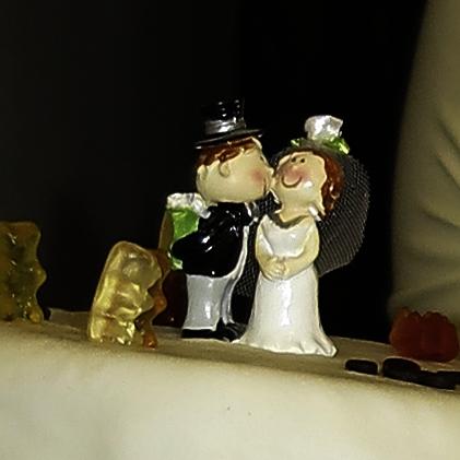Brautpaar von unserer Hochzeitstorte