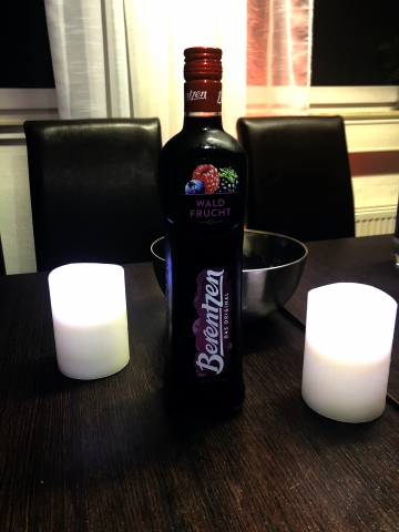 Berentzen-Kirsch für die Aftershowparty am Sonntag