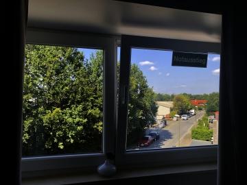 Blick aus dem Fenster am Freitag